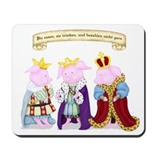 Three Wise Pigs Mousepad