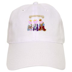 Three Wise Pigs Baseball Cap
