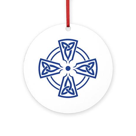 Triquetra Cross, transparent Ornament (Round)
