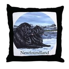 Newfoundland Snow Pair Throw Pillow