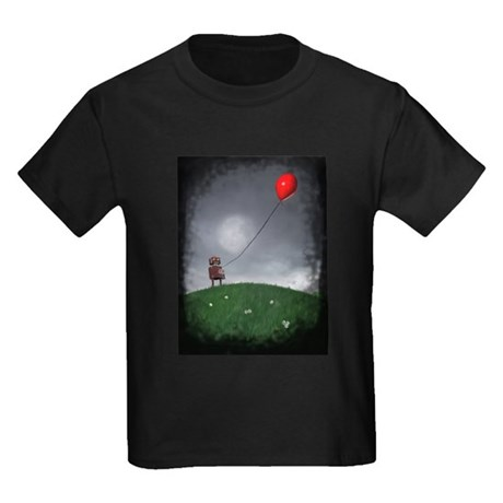 Fly Your Little Red Baloon Kids Dark T-Shirt