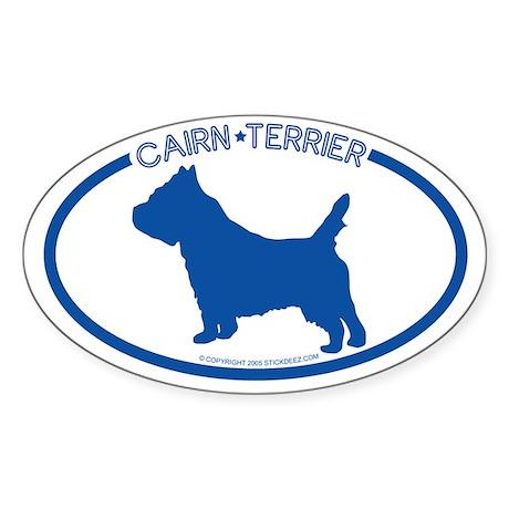 """""""Cairn Terrier"""" - Oval Sticker"""