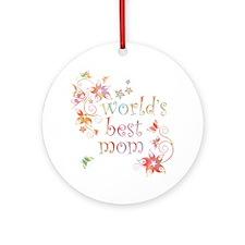 World's Best Mom 2 Ornament (Round)