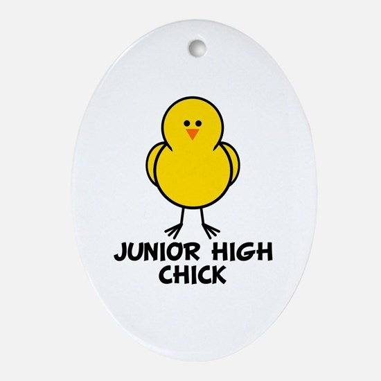 Junior High Chick Oval Ornament