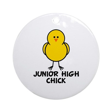 Junior High Chick Ornament (Round)