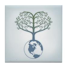 Earth Tree Heart Tile Coaster