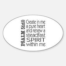 Steadfast Spirit Oval Decal