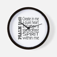 Steadfast Spirit Wall Clock