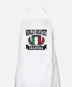 World's Greatest Italian Grandma BBQ Apron