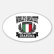 World's Greatest Italian Grandma Oval Decal