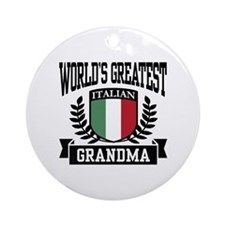 World's Greatest Italian Grandma Ornament (Round)