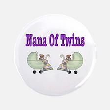 "Nana To Twins 3.5"" Button"