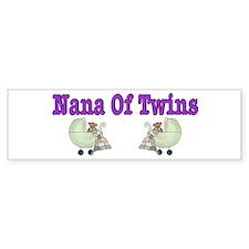 Nana To Twins Bumper Bumper Sticker