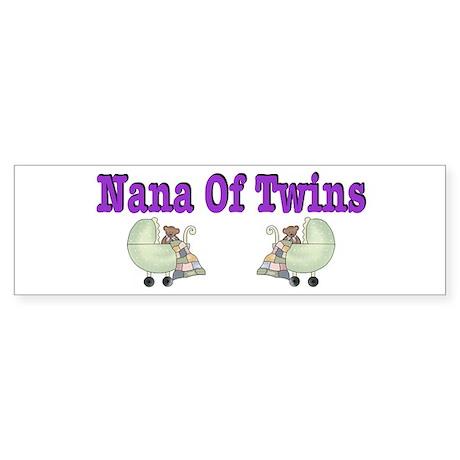 Nana To Twins Bumper Sticker