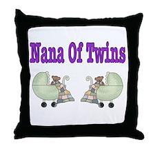 Nana To Twins Throw Pillow