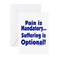 Suffering Is Optional Greeting Cards (Pk of 10