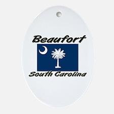 Beaufort South Carolina Oval Ornament