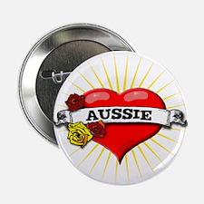 """Aussie Heart 2.25"""" Button"""