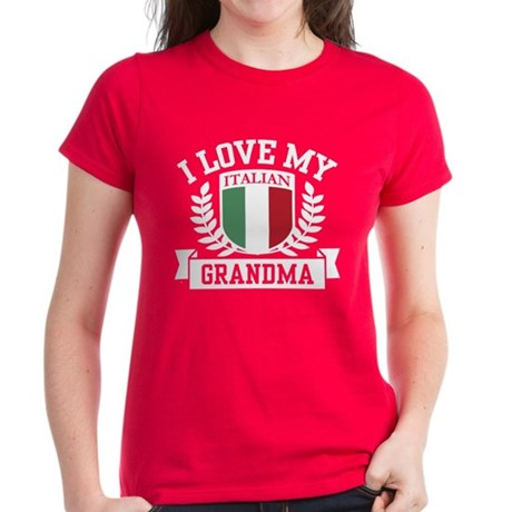I Love My Italian Grandma Women's Dark T-Shirt