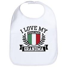 I Love My Italian Grandma Bib