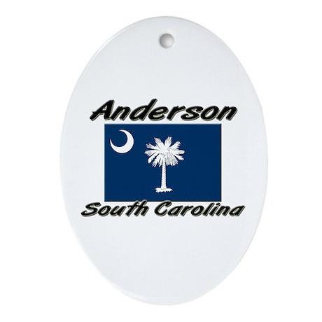 Anderson South Carolina Oval Ornament