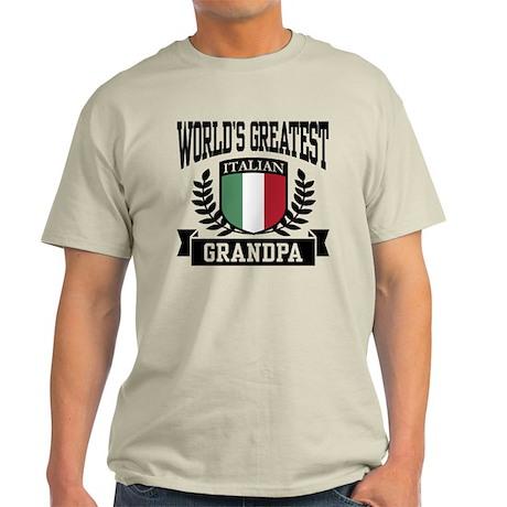 World's Greatest Italian Grandpa Light T-Shirt