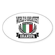 World's Greatest Italian Grandpa Oval Decal