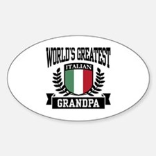 World's Greatest Italian Grandpa Oval Decal