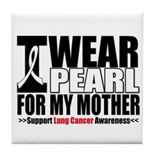 Lung Cancer Mother Tile Coaster