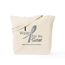 Gray Ribbon Sister Tote Bag