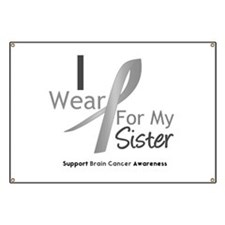 Gray Ribbon Sister Banner