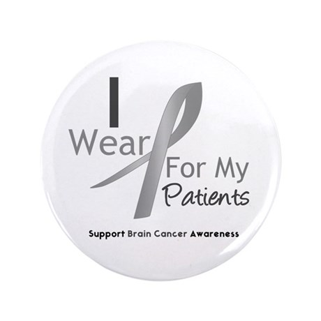 """Gray Ribbon Patients 3.5"""" Button (100 pack)"""