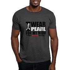 Lung Cancer Ribbon Mom T-Shirt