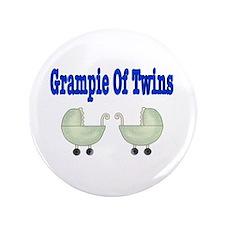 """Grampie Of Twins 3.5"""" Button"""