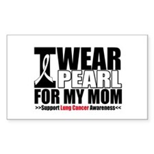 Lung Cancer Ribbon Mom Rectangle Decal