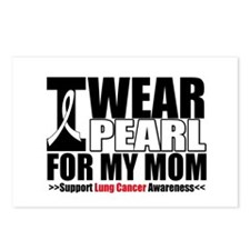 Lung Cancer Ribbon Mom Postcards (Package of 8)