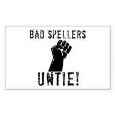 Bad Spellers Rectangle Decal