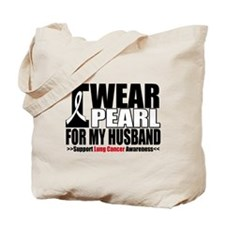 Lung Cancer Husband Tote Bag