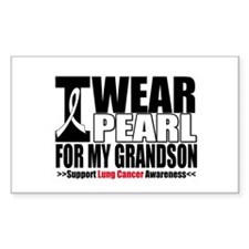 Lung Cancer Grandson Rectangle Decal
