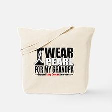 Lung Cancer Grandpa Tote Bag