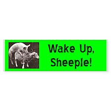 """""""Wake Up Sheeple"""" Bumper Bumper Sticker"""