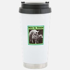 """Wake Up Sheeple"" Stainless Steel Travel Mug"