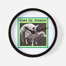 """Wake Up Sheeple"" Wall Clock"