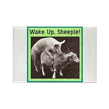"""Wake Up Sheeple"" Rectangle Magnet"