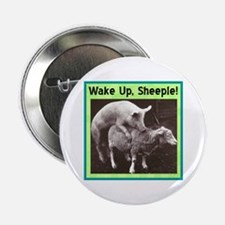 """Wake Up Sheeple"" 2.25"" Button"