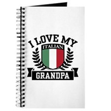I Love My Italian Grandpa Journal
