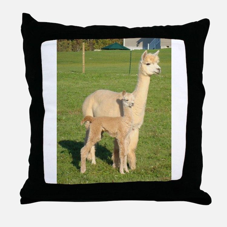 Cute Cria Throw Pillow