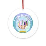 Happy Hanukkah Ornament (Round)