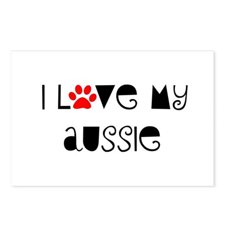 I Love my Aussie Postcards (Package of 8)