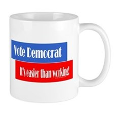 Vote Democrat Small Mug